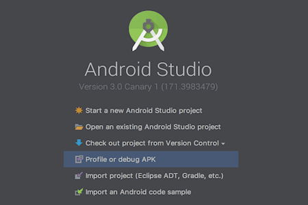 Android Studio 3.0 Canary